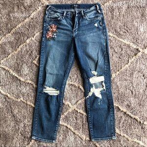 Women's Silver Jeans Crop Pants
